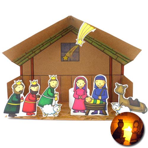 아기예수와동방박사장식등