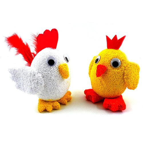 클레이 달걀공예 꼬꼬댁 5인set(달걀모형10개)