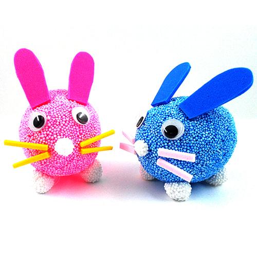 클레이 달걀공예 토끼 5인set(달걀모형10개)