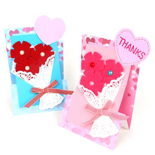 꽃다발 스탠드 카드 (5인용)