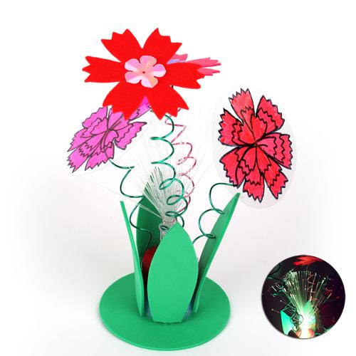 광섬유 카네이션 꽃동산