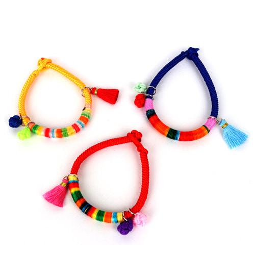 전통 색동팔찌 (5개이상구매가능)