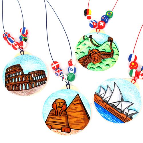 세계문화유산목걸이 (4인용)
