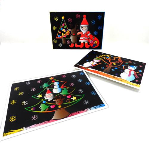 크리스마스스크래치카드 (5인용)