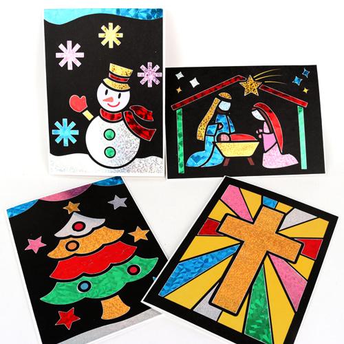 성탄절포일아트카드 4종SET