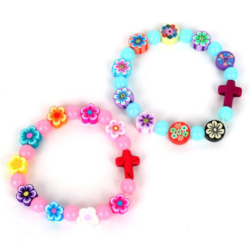 십자가 야광 꽃 팔찌 5인용
